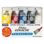 Gouache Studio Set des couleurs primaires 5 x 100 ml