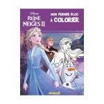 Carnet La Reine des Neiges 2 Mon premier bloc à colorier