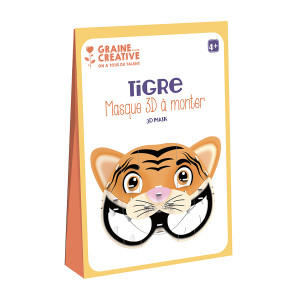 Masque 3D à monter Tigre