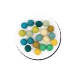 Boule en feutre 1,5 cm - Vert