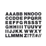 Alphabet thermocollant noir