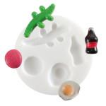 Moule en silicone pour miniatures thème sucreries