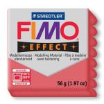 Pâte polymère Fimo Effect 56g - 204 - Rouge translucide