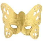 Masque papillon en papier mâché - 8 x 23,5 x 19,5 cm