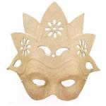 Masque fleur en papier mâché - 9 x 23 x 22 cm
