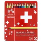 Crayons de couleur aquarellables Swisscolor - 18 pcs