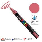Marqueur PC-5M pointe conique moyenne - Rouge métal