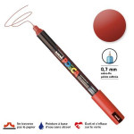 Marqueur PC-1MR calibrée extra-fine - Rouge métal