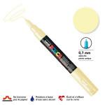 Marqueur pointe conique PC-1MC extra-fine 1mm - Ivoire