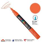 Marqueur pointe conique PC-1MC extra-fine 1mm - Orange