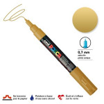 Marqueur pointe conique PC-1MC extra-fine 1mm - Or