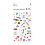 Stickers pour agenda Magical Summer Flèches x 6 planches