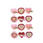 Stickers 3D motif cœur par 12