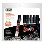 Marqueur acrylique Skrib 6 couleurs Classiques