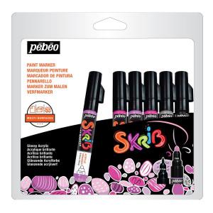 Marqueur acrylique Skrib 6 couleurs Dragées
