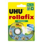 Bande adhésive Rollafix invisible 25 m x 19 mm + dévidoir