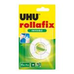 Bande adhésive Rollafix invisible recharge 25 m x 19 mm