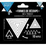 Dies - Triangles - 10 pcs