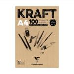Papier kraft en bloc 90 g/m² 100 feuilles - 21 x 29,7 cm (A4)