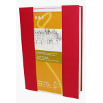 Livre à croquis format portrait couverture rouge 140g/m² - 21 x 29,7 cm (A4)