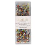 Epingles tête en verre multicolores par 1000