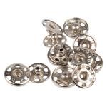 Bouton pression à coudre 15,5 mm argenté par 5