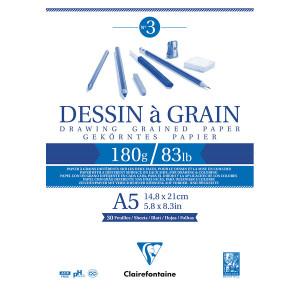 Bloc dessin à grain 180 g/m² - 29,7 x 42 cm (A3)