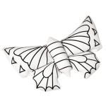 Peluche en tissu à colorier Papillon