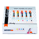 Peinture à l'huile diluable à l'eau Cobra set de 5