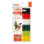 Cire à modeler couleurs Noël 6 x 40 g + Mèche 1 m