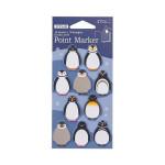 Marque-page adhésif Pingouin 3 x 3 cm