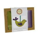 Feutrine mini kit l'oiseau vert