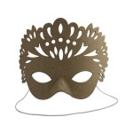 Masque plumes en papier maché