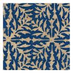 Papier Lokta Imprimé 50 x 75 cm Belem bleu