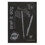 Bloc de papier GraF'it DOT avec repère 90 g/m² 80 Fles - 29,7 x 42 cm (A3)