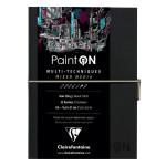 Carnet Paint'On papier Noir 250 g/m² A5 32 F