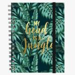 Cahier ligné à spirales jungle