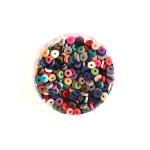 Perle rondelle Heishi 3 mm Mix couleurs Naturelles
