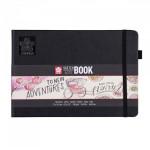 Carnet de dessin Sketch Note Book papier Blanc crème 140 g/m² 80 F - 12 x 12 cm
