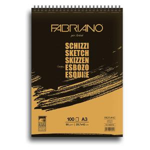 Bloc de papier esquisse 90 g/m/² Schizzi 29,7 x 42 cm 100F