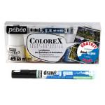 Encre aquarelle Colorex set de 5 x 45 ml + Drawing Gum