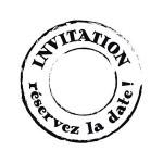 Tampon bois Woodies Invitation La date 3 cm
